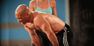 man sweating doing max30