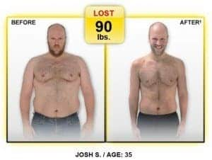 josh lost 90lbs