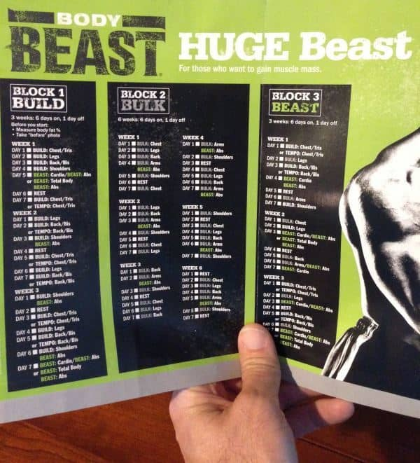 Body Beast Huge Workout Schedule