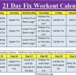 Autum's 21 Day Fix Exercise Schedule