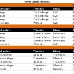 Free Calendar Download For P90x3 Workouts