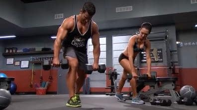 dumbbell row exercise
