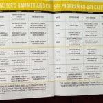 master hammer chisel workout calendar