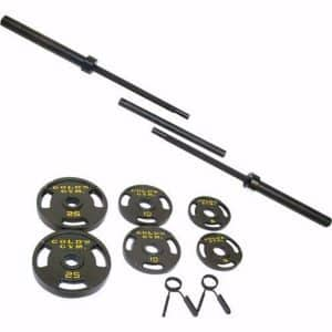 Golds Gym 110 lb Olympic Barbell Set