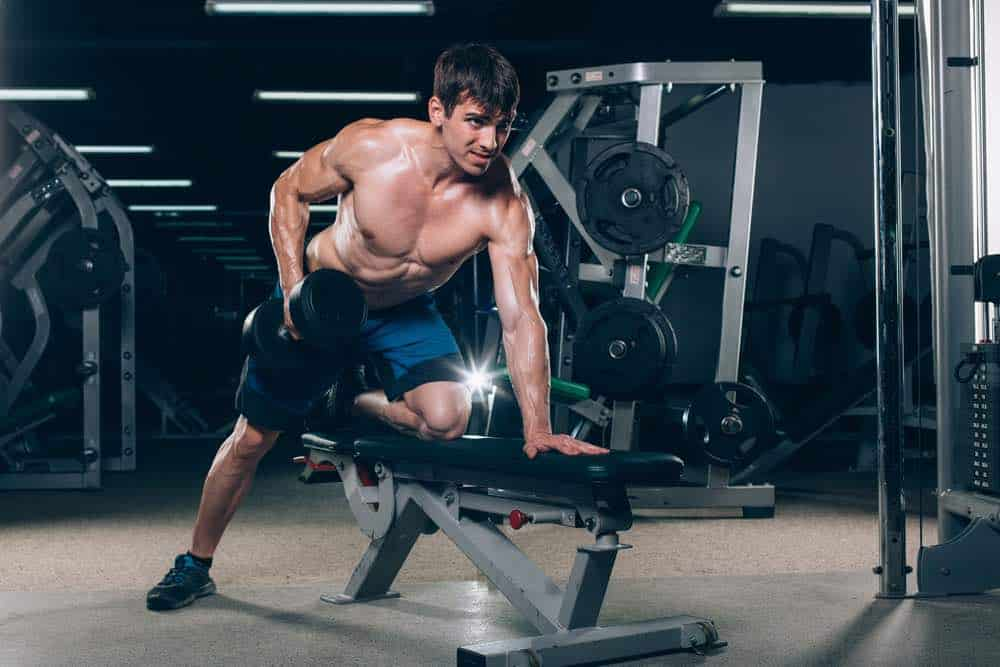 Exercise using your home gym weight bench