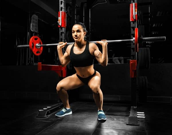Women squat exercises